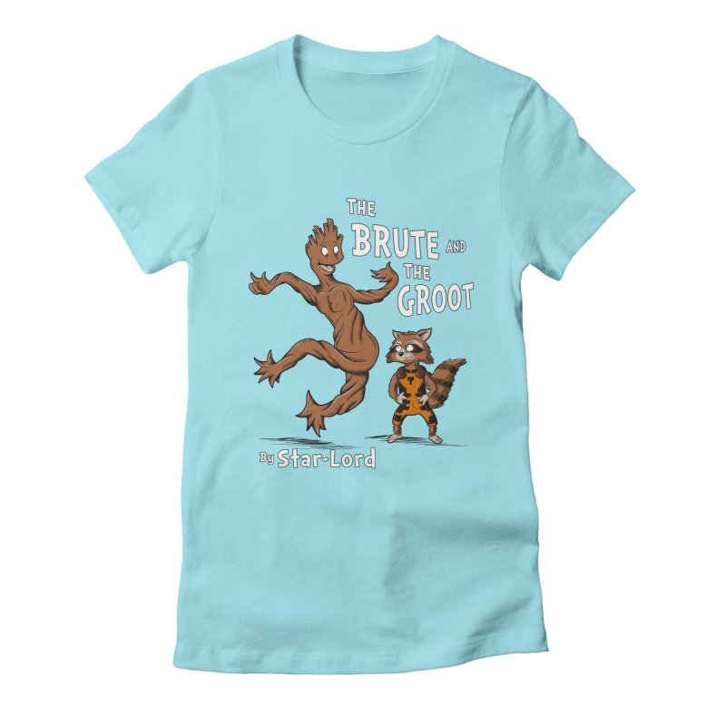 The Brute and The Groot Women's Fitted T-Shirt by Stephen Hartman Illustration Shop