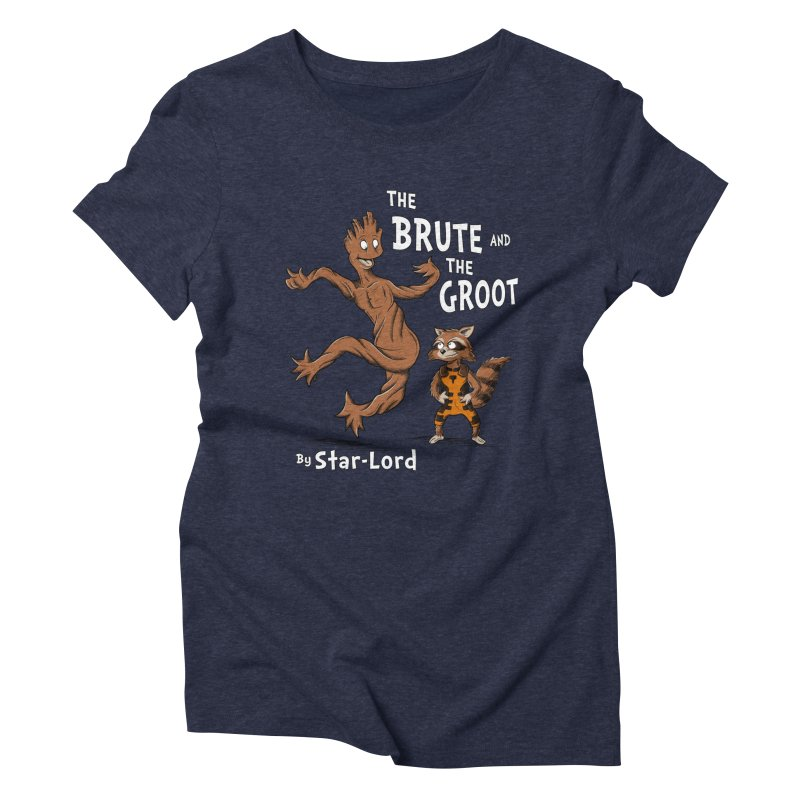 The Brute and The Groot Women's Triblend T-Shirt by Stephen Hartman Illustration Shop