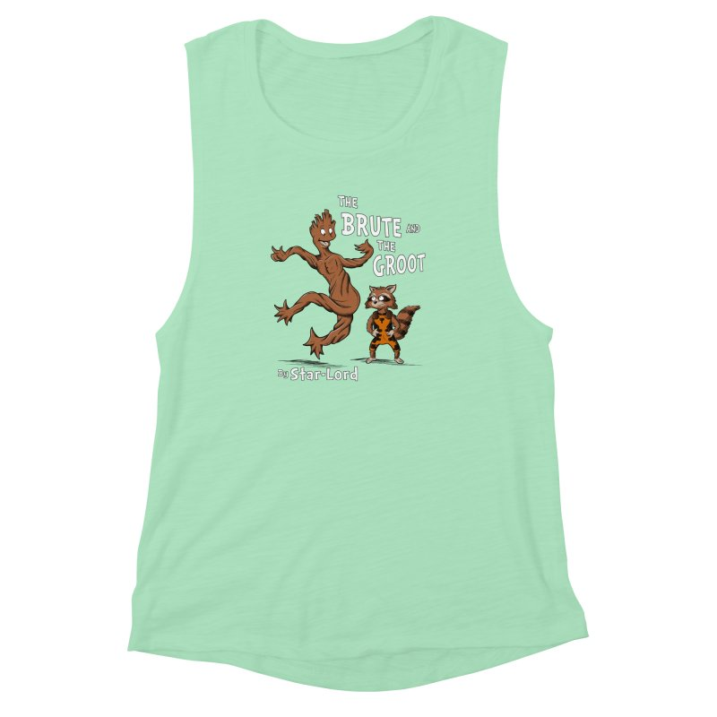 The Brute and The Groot Women's Muscle Tank by Stephen Hartman Illustration Shop