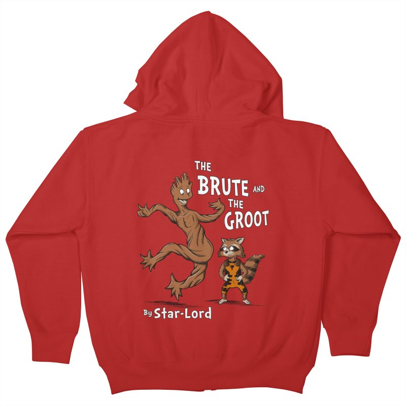 The Brute and The Groot Kids Zip-Up Hoody by Stephen Hartman Illustration Shop