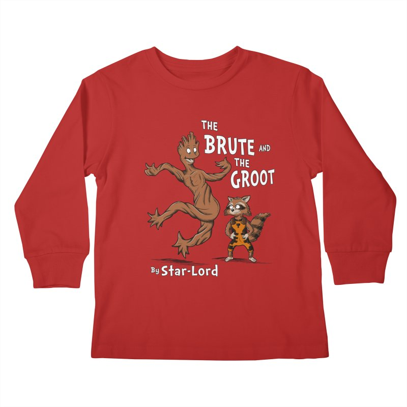 The Brute and The Groot Kids Longsleeve T-Shirt by Stephen Hartman Illustration Shop