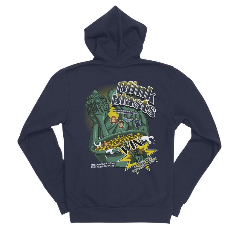 Blink Blasts Men's Sponge Fleece Zip-Up Hoody by Stephen Hartman Illustration Shop