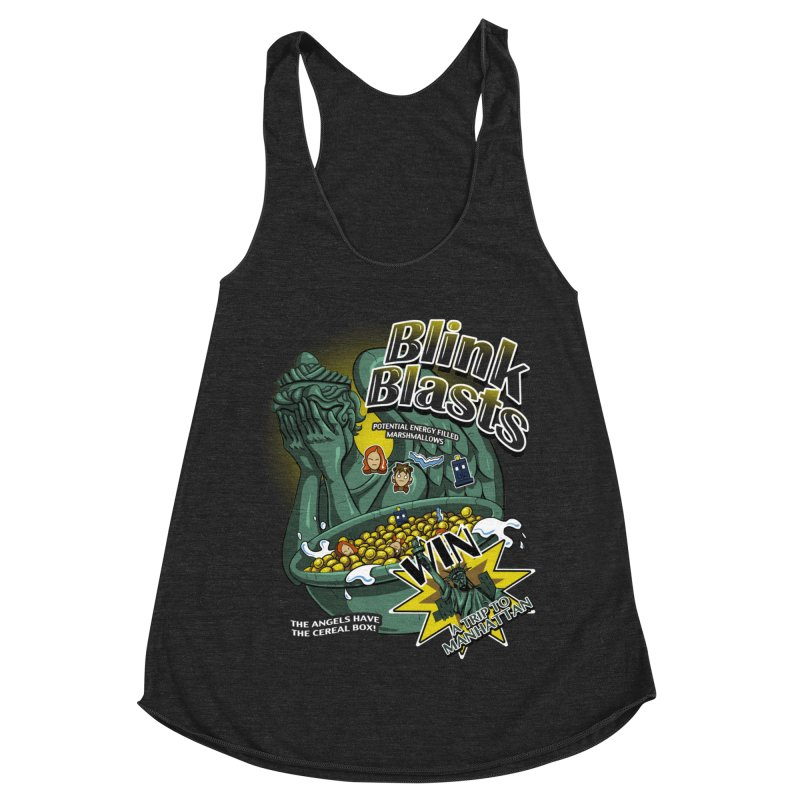 Blink Blasts Women's Racerback Triblend Tank by Stephen Hartman Illustration Shop
