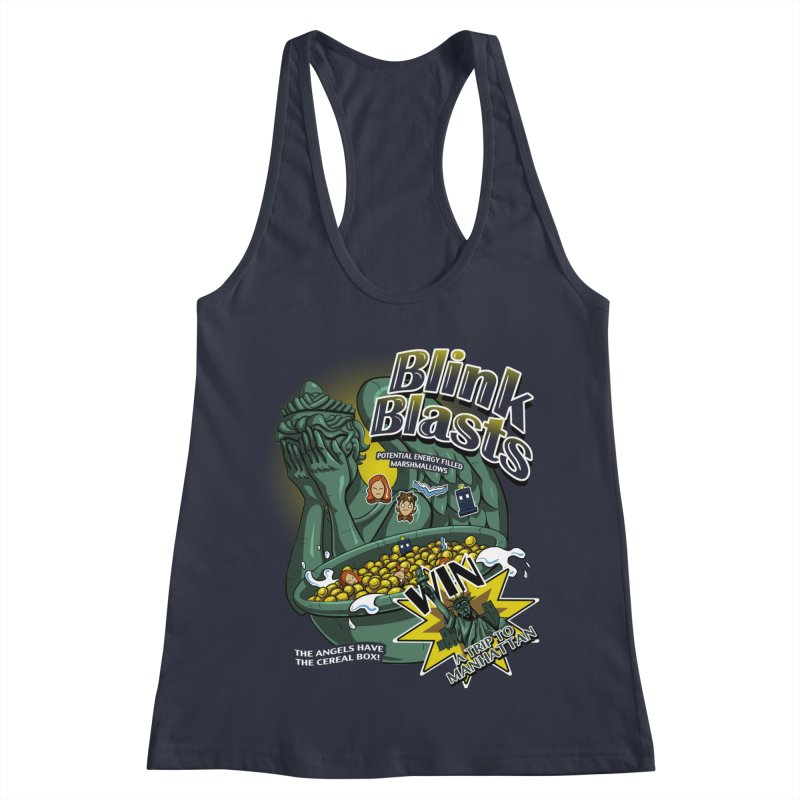 Blink Blasts Women's Racerback Tank by Stephen Hartman Illustration Shop