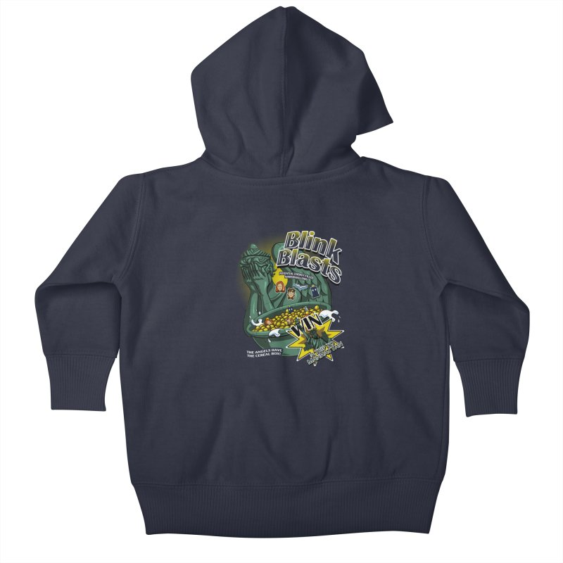 Blink Blasts Kids Baby Zip-Up Hoody by Stephen Hartman Illustration Shop