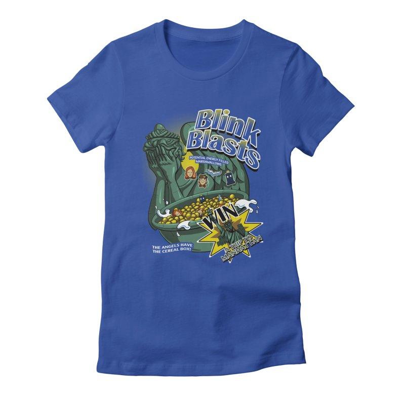Blink Blasts Women's Fitted T-Shirt by Stephen Hartman Illustration Shop