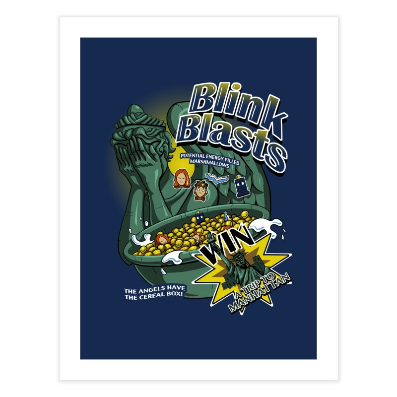 Blink Blasts Home Fine Art Print by Stephen Hartman Illustration Shop