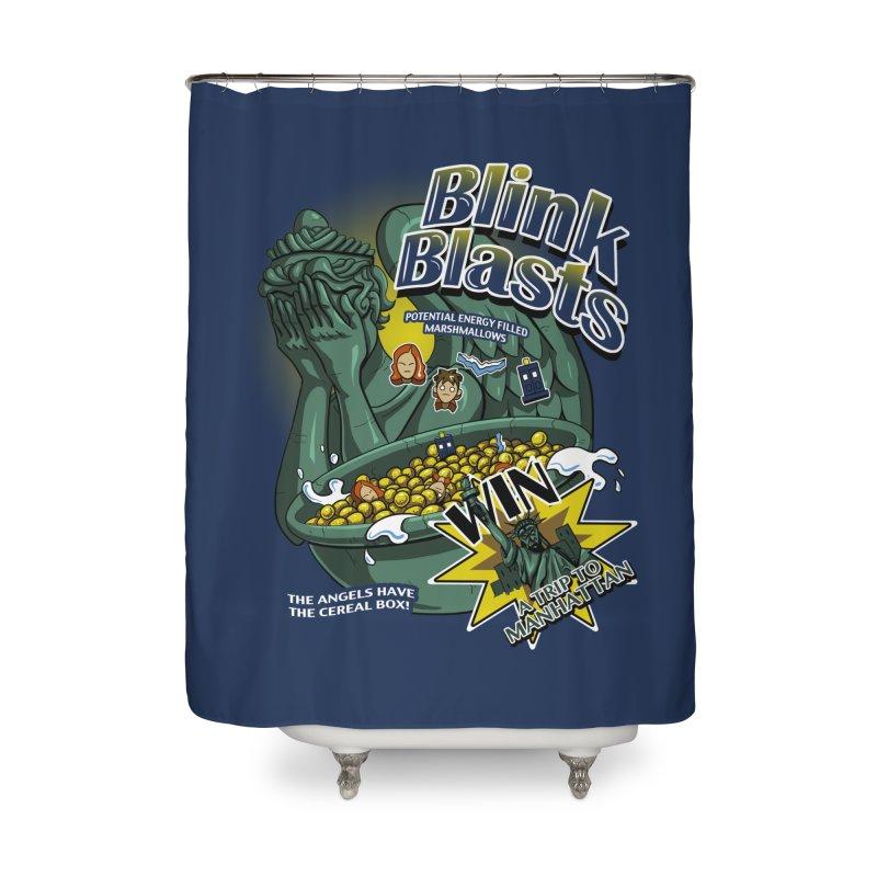 Blink Blasts Home Shower Curtain by Stephen Hartman Illustration Shop