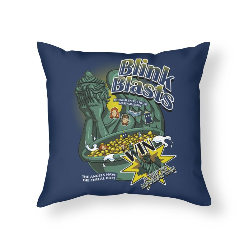 Blink Blasts Home Throw Pillow by Stephen Hartman Illustration Shop