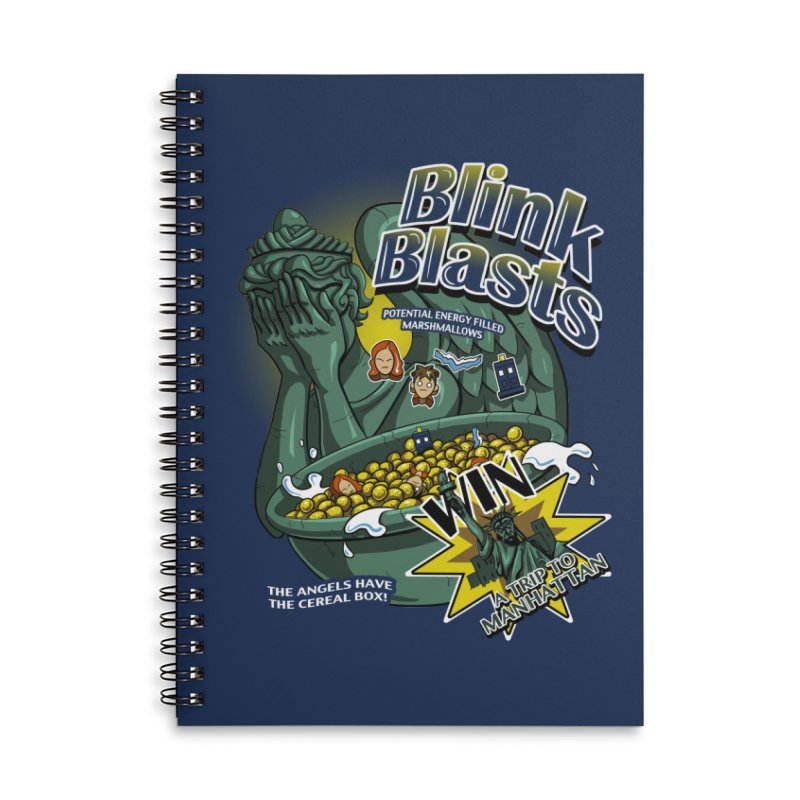 Blink Blasts Accessories Lined Spiral Notebook by Stephen Hartman Illustration Shop