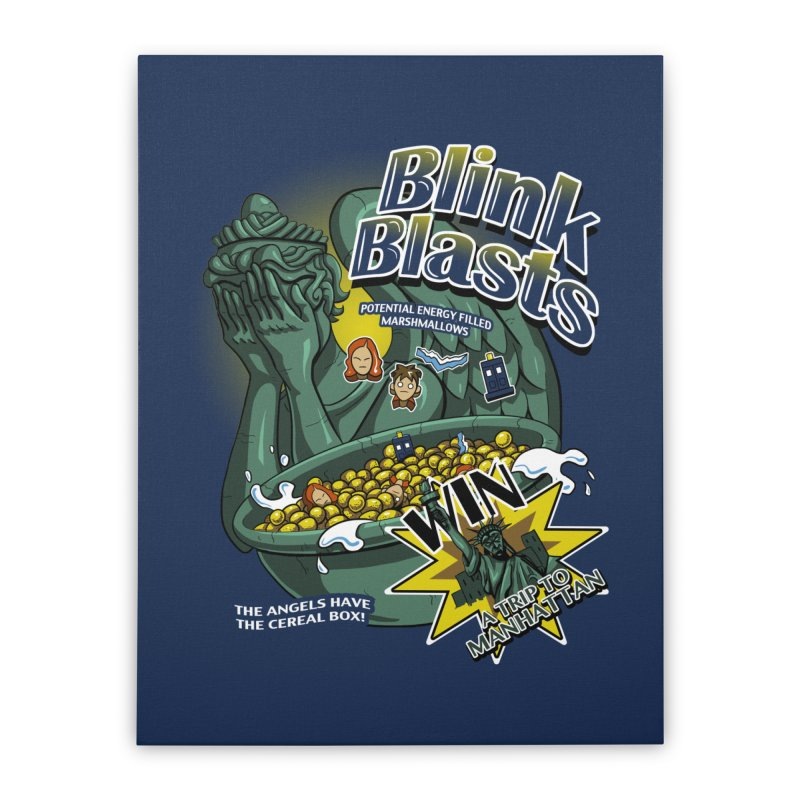 Blink Blasts Home Stretched Canvas by Stephen Hartman Illustration Shop