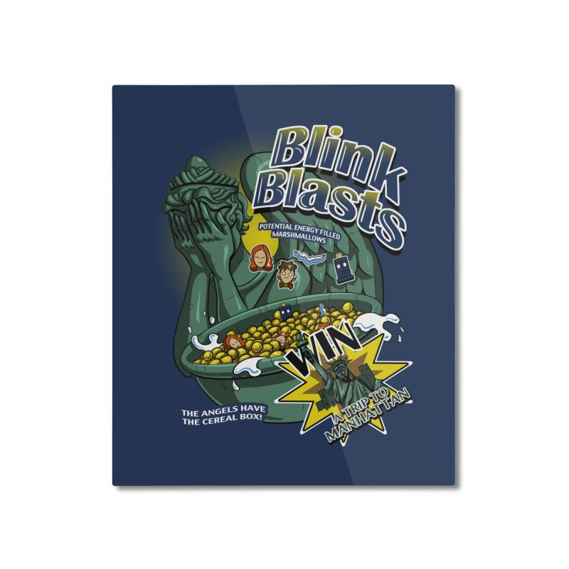 Blink Blasts Home Mounted Aluminum Print by Stephen Hartman Illustration Shop
