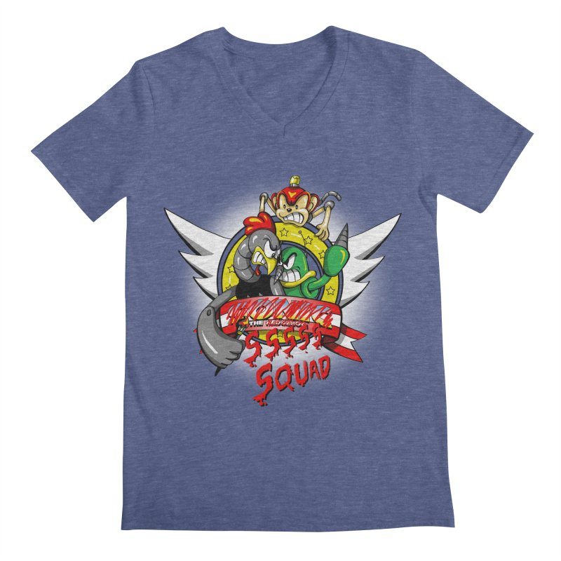 Hedgehog Hunters Men's V-Neck by Stephen Hartman Illustration Shop