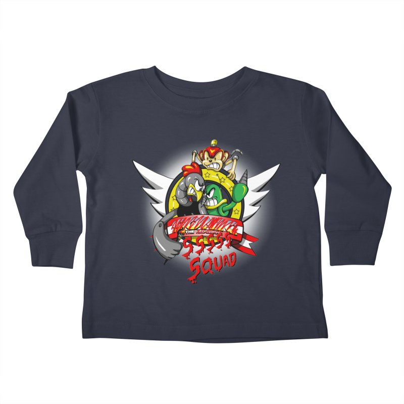 Hedgehog Hunters Kids Toddler Longsleeve T-Shirt by Stephen Hartman Illustration Shop