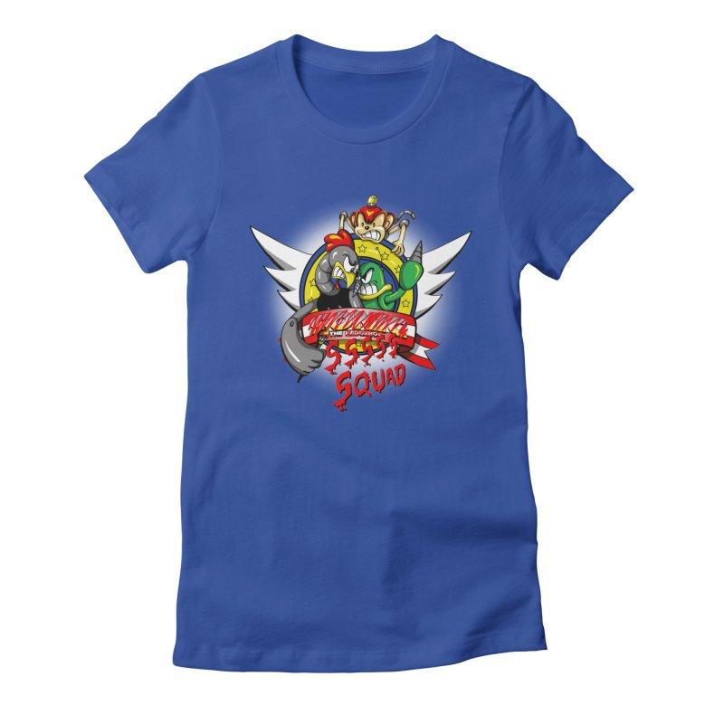 Hedgehog Hunters Women's Fitted T-Shirt by Stephen Hartman Illustration Shop