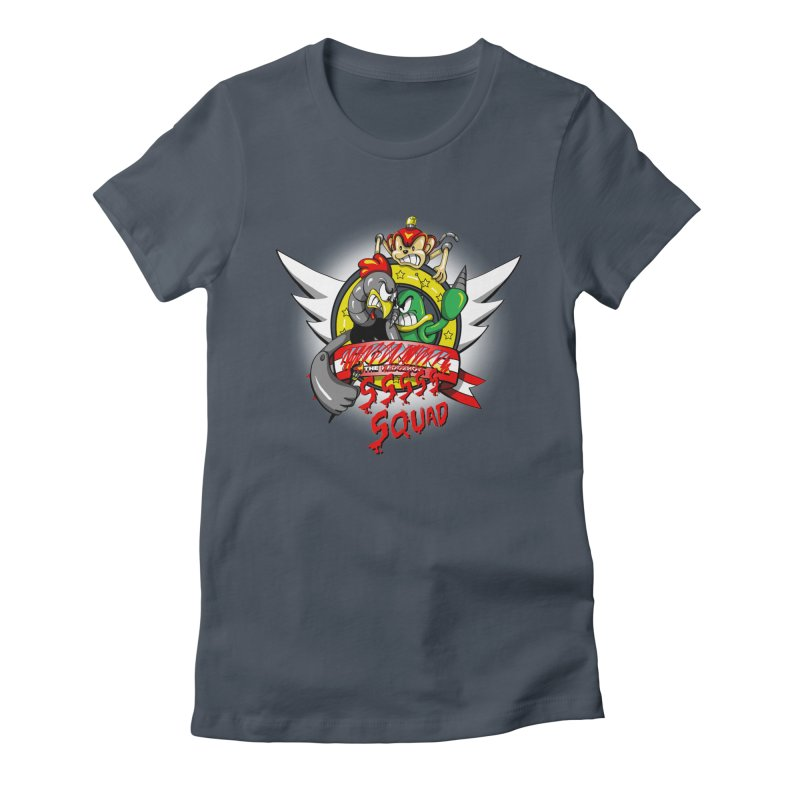 Hedgehog Hunters Women's Fitted T-Shirt by Stephen Hartman Illustration Shop