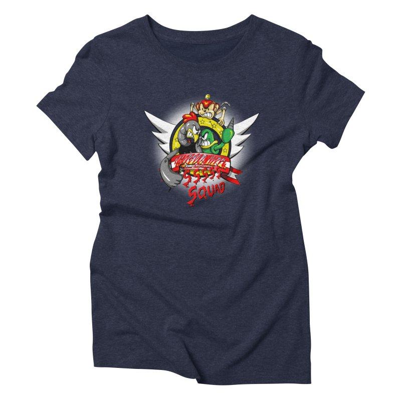 Hedgehog Hunters Women's Triblend T-shirt by Stephen Hartman Illustration Shop