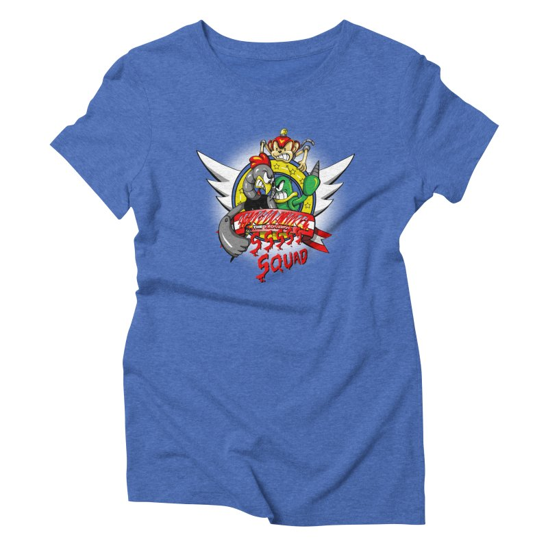 Hedgehog Hunters Women's Triblend T-shirt by Stephen Hartman Illustration Shop