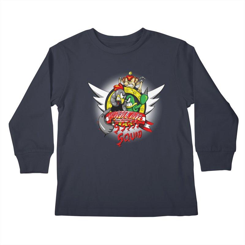 Hedgehog Hunters Kids Longsleeve T-Shirt by Stephen Hartman Illustration Shop