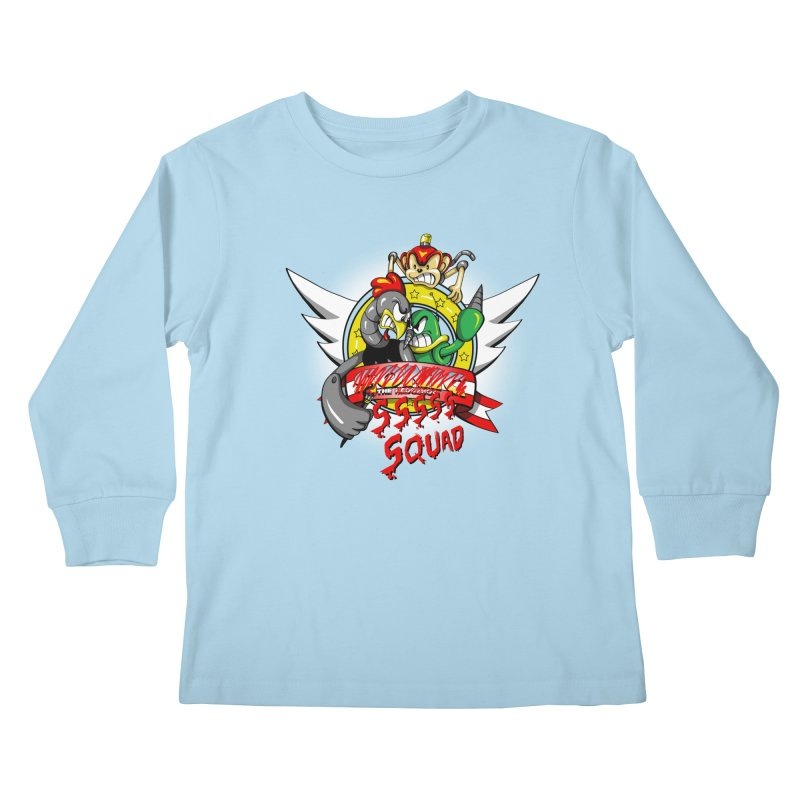 Hedgehog Hunters Kids Longsleeve T-Shirt by Stephen Hartman Illustration Shop