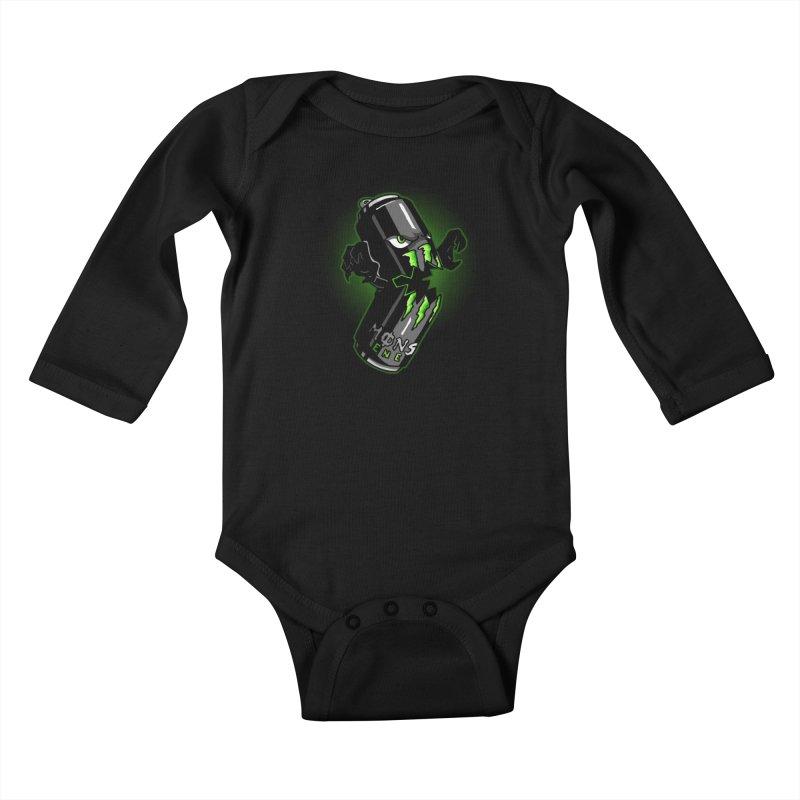 A Monster Kids Baby Longsleeve Bodysuit by Stephen Hartman Illustration Shop