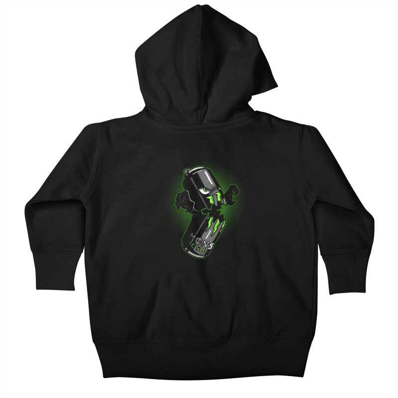 A Monster Kids Baby Zip-Up Hoody by Stephen Hartman Illustration Shop