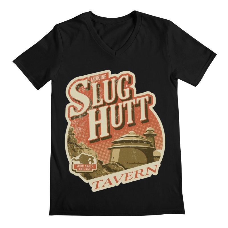 Slug Hutt Men's Regular V-Neck by Stephen Hartman Illustration Shop