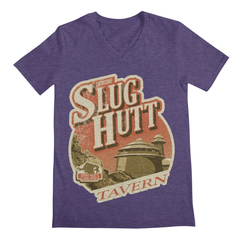 Slug Hutt Men's Regular V-Neck by Stephen Hartman Illustration Shop