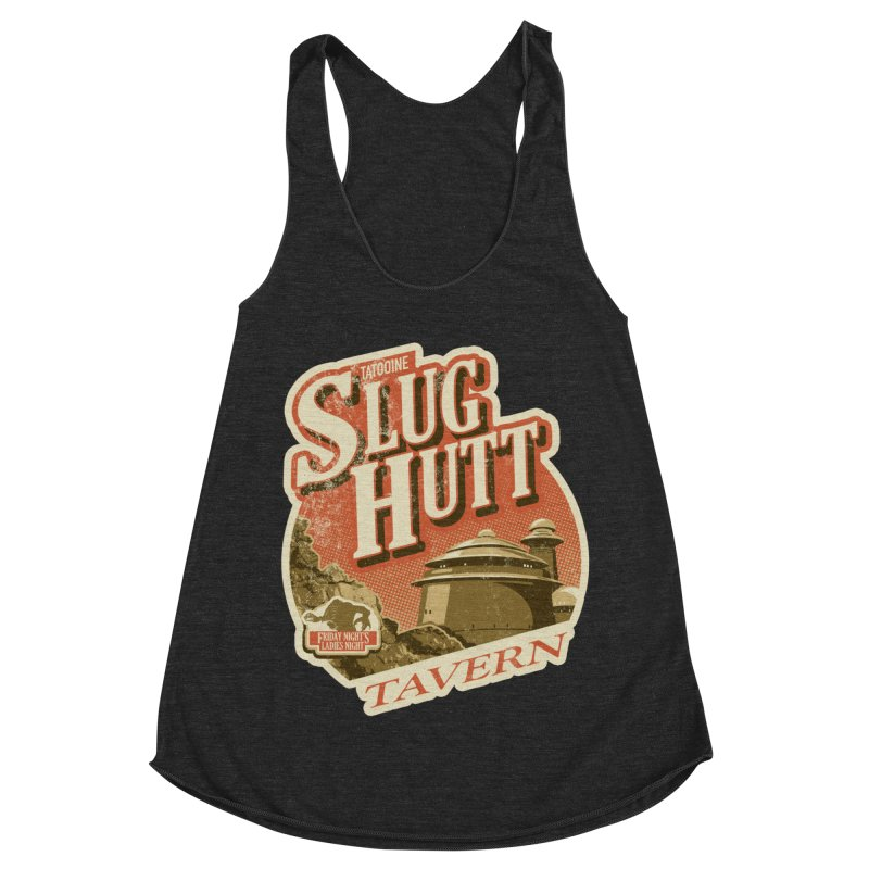 Slug Hutt Women's Racerback Triblend Tank by Stephen Hartman Illustration Shop