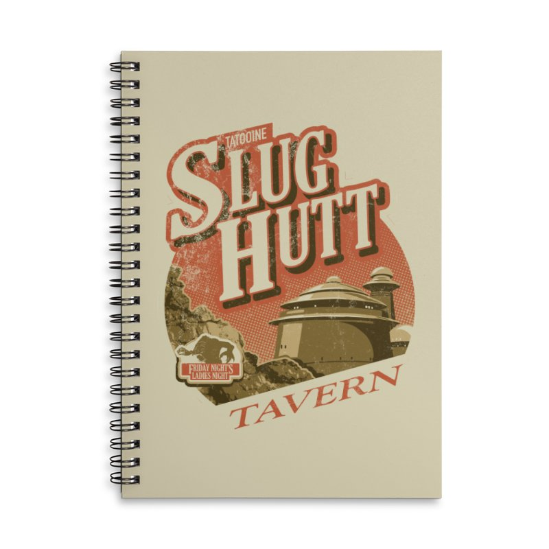 Slug Hutt Accessories Lined Spiral Notebook by Stephen Hartman Illustration Shop
