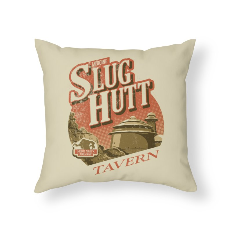 Slug Hutt Home Throw Pillow by Stephen Hartman Illustration Shop