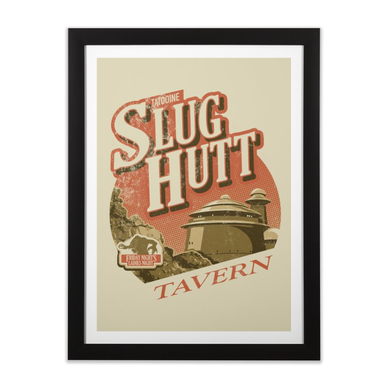Slug Hutt Home Framed Fine Art Print by Stephen Hartman Illustration Shop