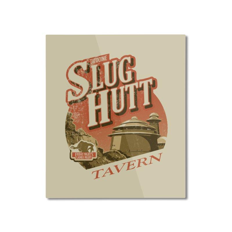Slug Hutt Home Mounted Aluminum Print by Stephen Hartman Illustration Shop