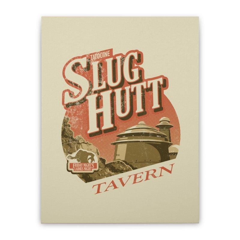 Slug Hutt Home Stretched Canvas by Stephen Hartman Illustration Shop