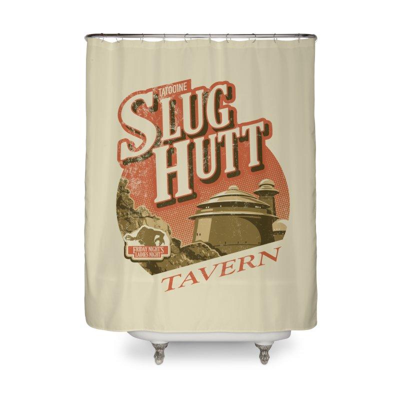 Slug Hutt Home Shower Curtain by Stephen Hartman Illustration Shop