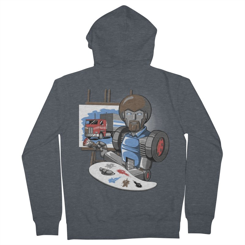 Auto-BOBs Women's French Terry Zip-Up Hoody by Stephen Hartman Illustration Shop