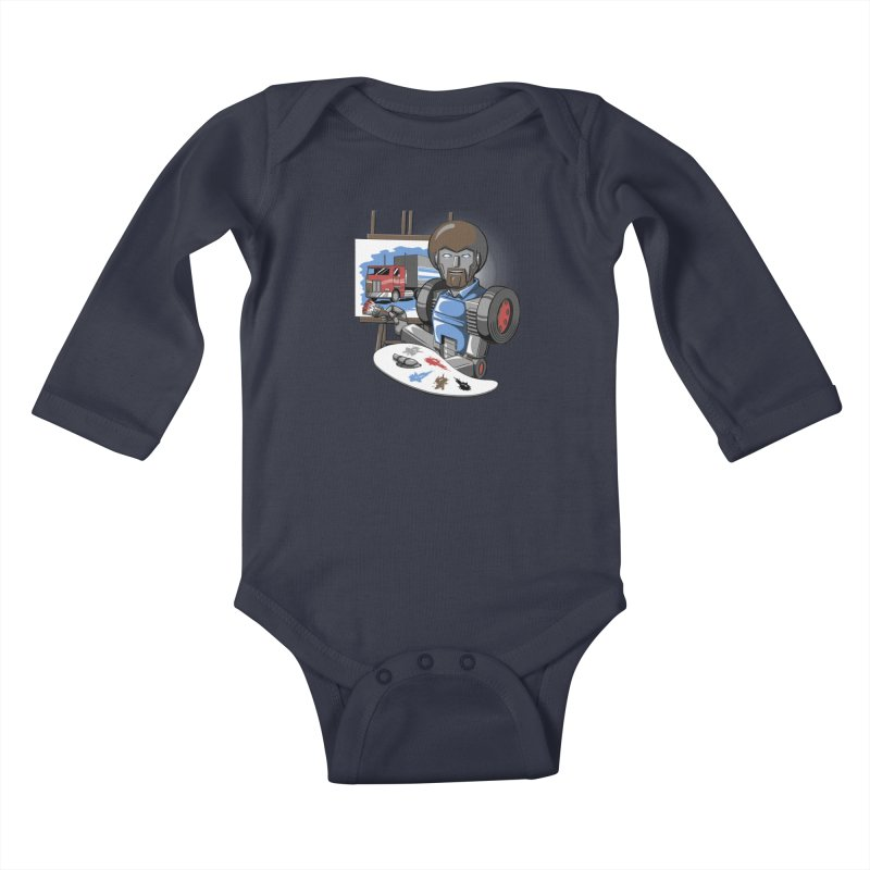 Auto-BOBs Kids Baby Longsleeve Bodysuit by Stephen Hartman Illustration Shop