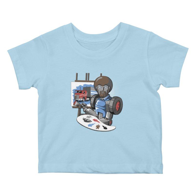 Auto-BOBs Kids Baby T-Shirt by Stephen Hartman Illustration Shop