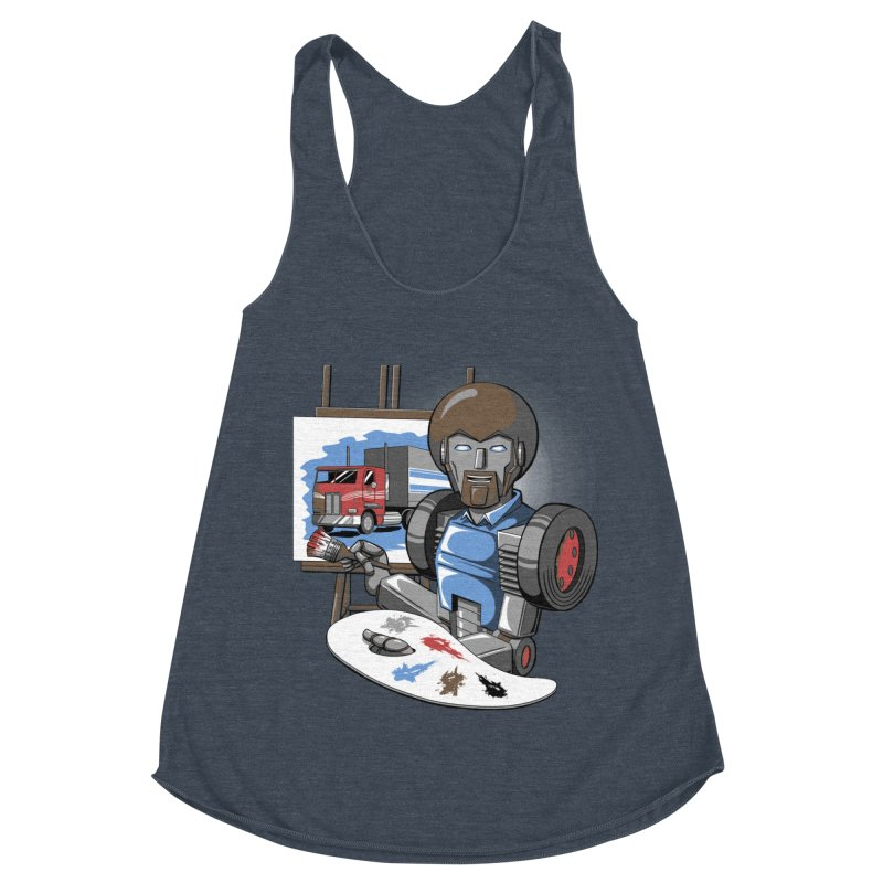 Auto-BOBs Women's Racerback Triblend Tank by Stephen Hartman Illustration Shop