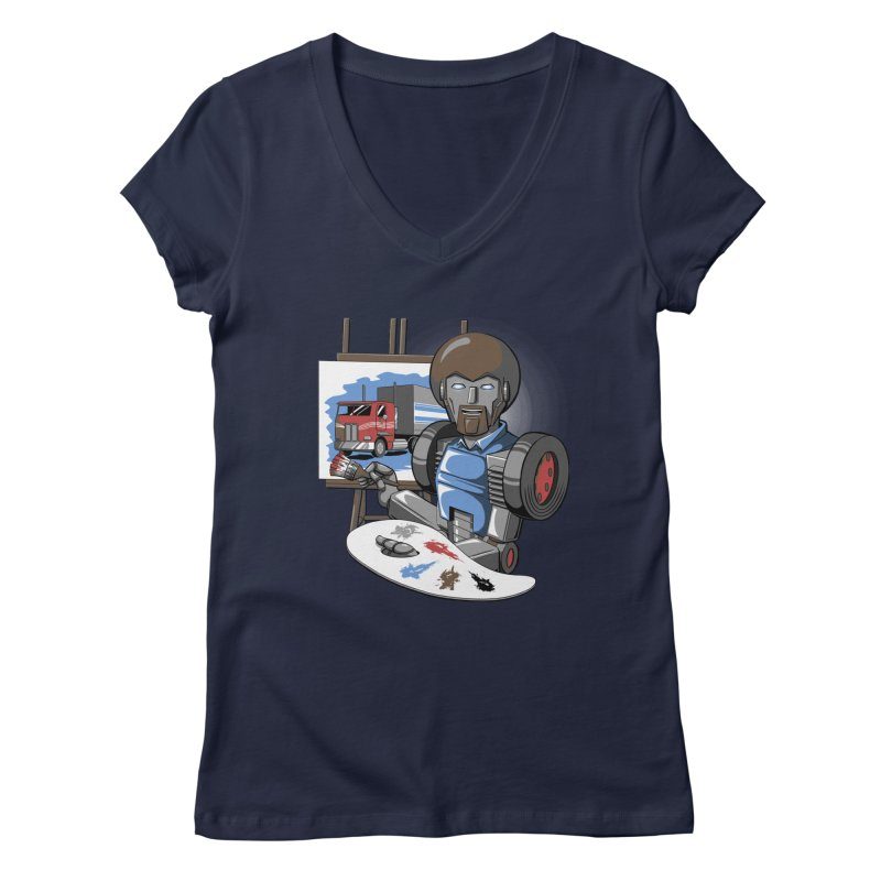 Auto-BOBs Women's Regular V-Neck by Stephen Hartman Illustration Shop