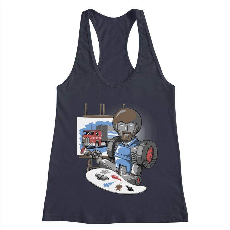 Auto-BOBs Women's Racerback Tank by Stephen Hartman Illustration Shop