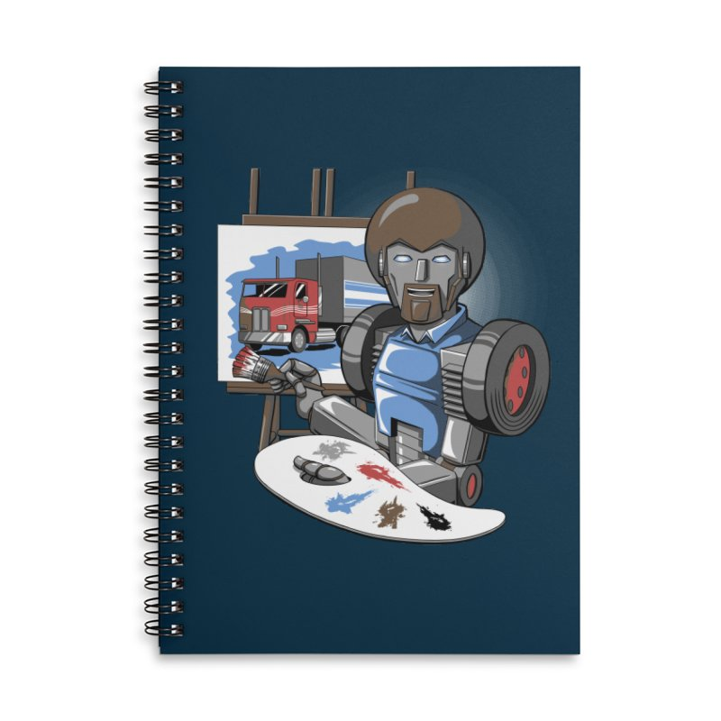 Auto-BOBs Accessories Lined Spiral Notebook by Stephen Hartman Illustration Shop