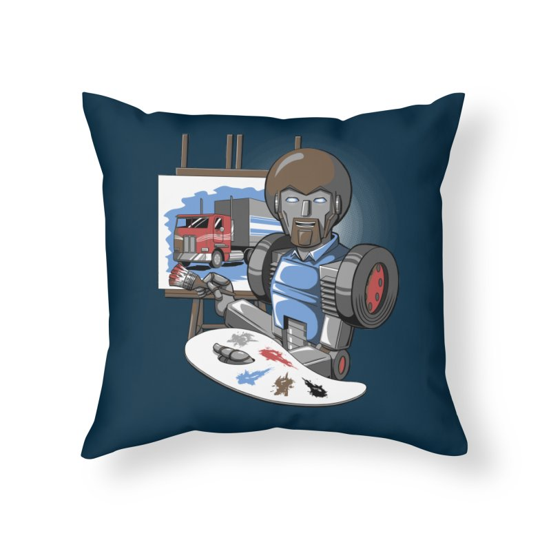 Auto-BOBs Home Throw Pillow by Stephen Hartman Illustration Shop