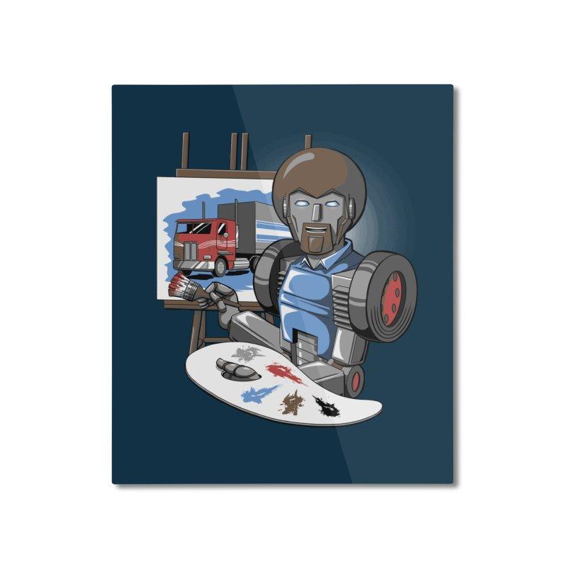Auto-BOBs Home Mounted Aluminum Print by Stephen Hartman Illustration Shop