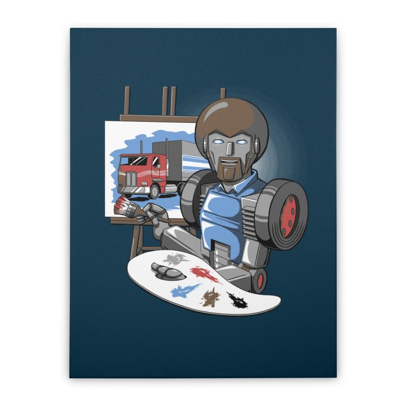Auto-BOBs Home Stretched Canvas by Stephen Hartman Illustration Shop