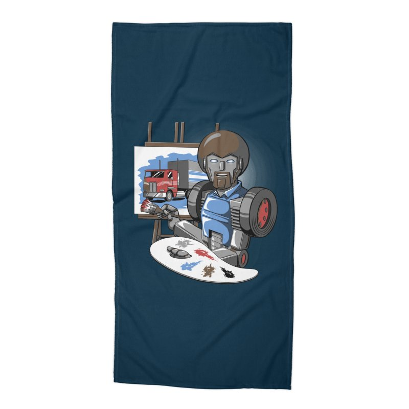 Auto-BOBs Accessories Beach Towel by Stephen Hartman Illustration Shop