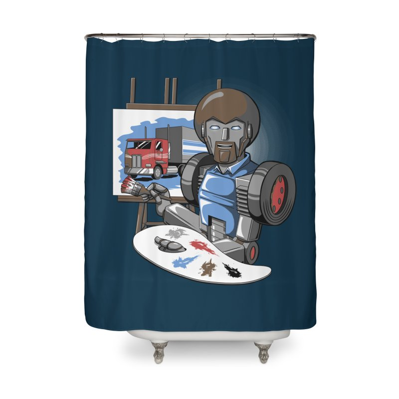 Auto-BOBs Home Shower Curtain by Stephen Hartman Illustration Shop