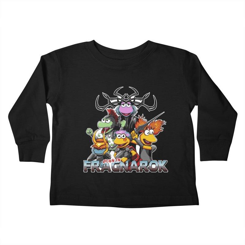 Fragnarok Kids Toddler Longsleeve T-Shirt by Stephen Hartman Illustration Shop