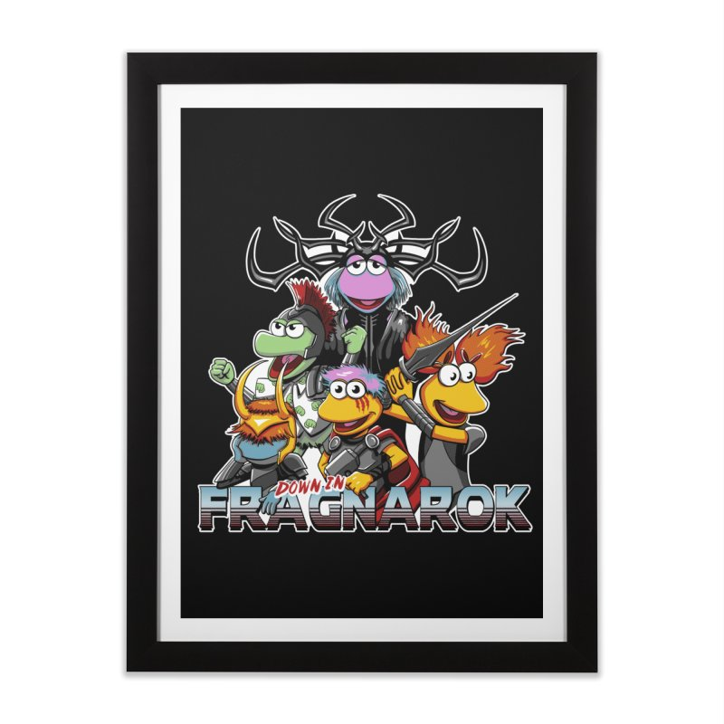 Fragnarok Home Framed Fine Art Print by Stephen Hartman Illustration Shop
