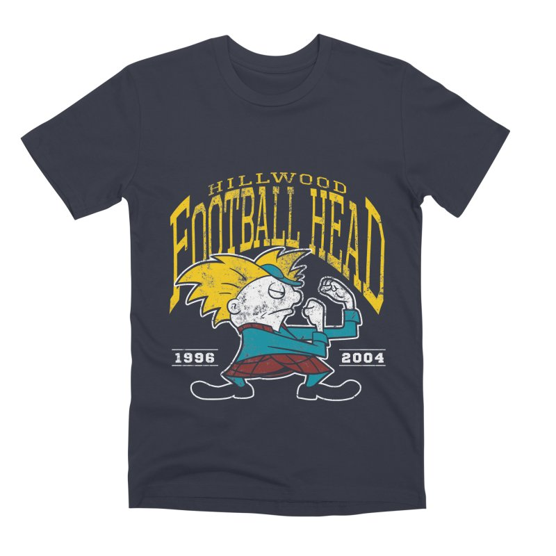 Football Head Men's Premium T-Shirt by Stephen Hartman Illustration Shop